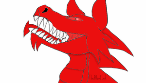 The laughing Welsh dragon by TheBloodInk