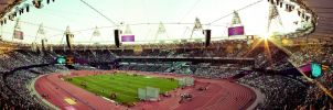 London 2012  - Olympic Stadium  Panoramic High Res by nawaz83