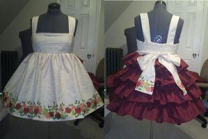 Summer Fruits bustle dress A by BeMeFullMoon