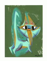 Green Cat by Pocketowl