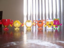 Mr. Men figures from Arby's by Percyfan94