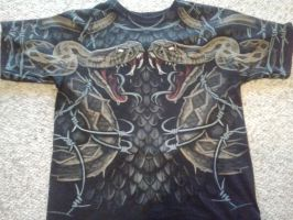 Dual snake shirt by ROOKIE745