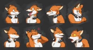 Commission: AJ's Expression Sheet by Temiree
