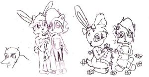 Sally Bunnie Snively scribble by kaikaku