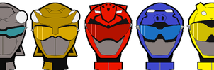 Go-Buster Helmets by Axusho