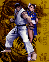 Ryu X Chun Li Version 3 by BeeVue