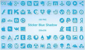 Sticker Blue Shadow IconPack by alexgal23