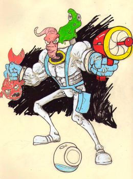earthworm jim sketch by chaingunchimp