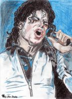 MJ Bad Era In Color by ArtbyChar