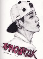 Bang Yongguk: Charcoal by Akiyata