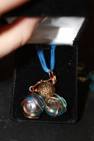 First necklace- wire and beads by Swooping-Puma