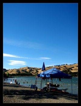 Fun at Lake Del Valle by m0nst3r