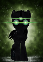 mlp : Sam Fisher by B--waffle