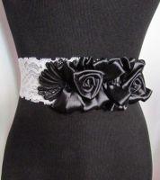 Lace Rose Corset Belt by lacedheadbands