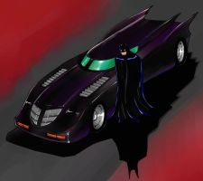 Batmobile by Mawnbak