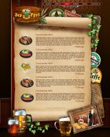 beer menu web template by S-quill