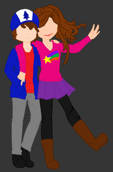 Mabel And Dipper by Irrationalmirror
