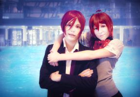 Rin and Gou Cosplay, Free! by Hadukoushi