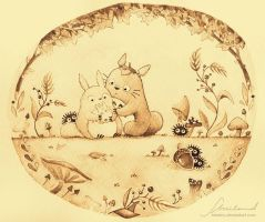 Totoro Family Old by Nestery