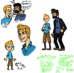 tintin rewatch doodles by lazy-spoon