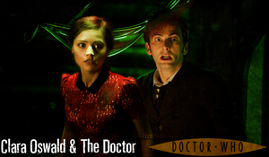 Clara Oswald and The 10th Doctor AU Poster by feel-inspired