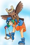 Noctowl and Sling by luu-lunarworks