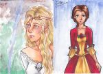 Galadriel and Belle ACEO's by lilYumi-chan
