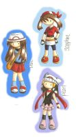 Heroines From Pokemon Games by WingJourneys