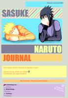 Naruto and Sasuke Journal Skin by Cassy-F-E