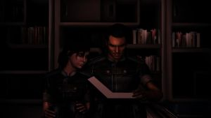 Mass Effect 3 - Kaidan reading to shepard by lealea25