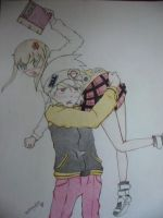 soul and maka by automail04