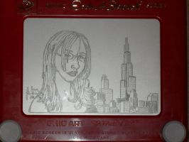 Me and Chicago etchasketch by pikajane