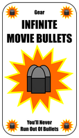 Infinite Movie Bullets Card For Zombie Run Game by flowofwoe