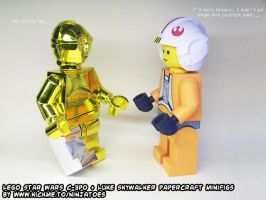 Why papercraft LEGO C-3PO has a silver leg by ninjatoespapercraft