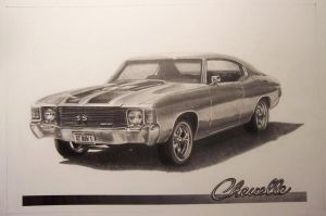 '72 Chevelle by Graphiticus