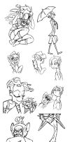 SOME DOODLES by Candys-Killer