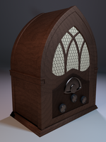 3D Model: Vintage Radio by ark4n