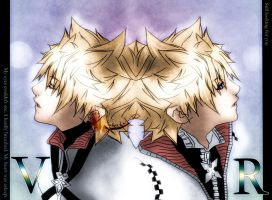 Roxas and Ventus by jalonzo1610