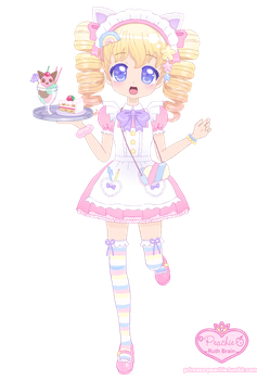 Maid Mallow-chan by Princess-Peachie