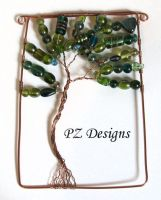 Squared Tree of Life Ornament by PurlyZig