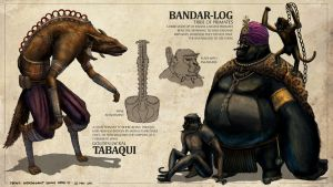 The Jungle Book - Tabaqui + Bandar-Log by freakyfir