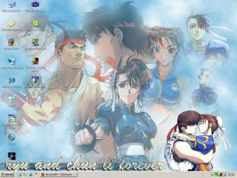 Ryu and Chun-li 4ever by biachunli