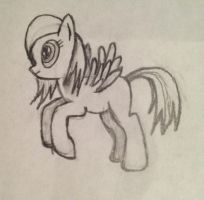 First Drawing Of A Pony Flying by vaser888