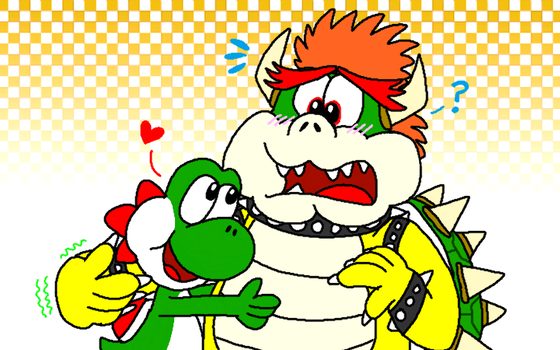 Yoshi and Bowser - Party Animals by AngryBirdsStuff