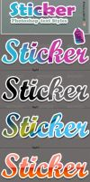 Sticker Photoshop Styles by kh2838