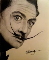 dali draw by virlaneduard