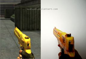 Crossfire Desert Eagle Gold Papercraft 3 by svanced
