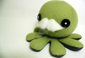 Another green mustache plushie by jaynedanger