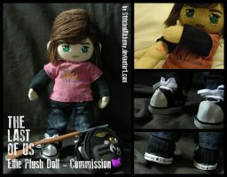 The Last of Us: Ellie Plush Doll [COMMISSION] by StitchedAlchemy