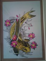 Koi Fish by OneBulletToTheHeart